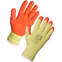 Multi Purpose grip glove, orange/yellow