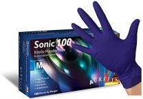 Sonic Blue Nitrile Gloves, 100