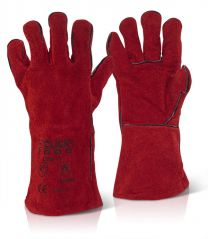 "RED WELDERS GAUNTLET 14"" CAT 2"