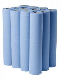 "Couch Rolls, 20"" 2 ply Blue, 12 rolls per case"