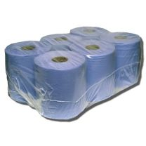 Blue Paper Roll, 6 rolls per case