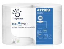 Papernet Full Tech Toilet Roll, 2 ply, 411189