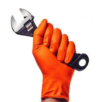 Ignite Orange Nitrile Gloves (Box 100)