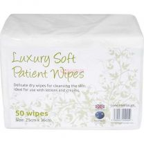 Luxury Dry Patient Wipes x 50