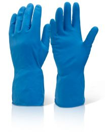 Rubber gloves, blue, 10 pairs