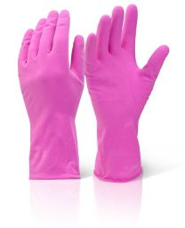 Rubber gloves, pink, 10 pairs